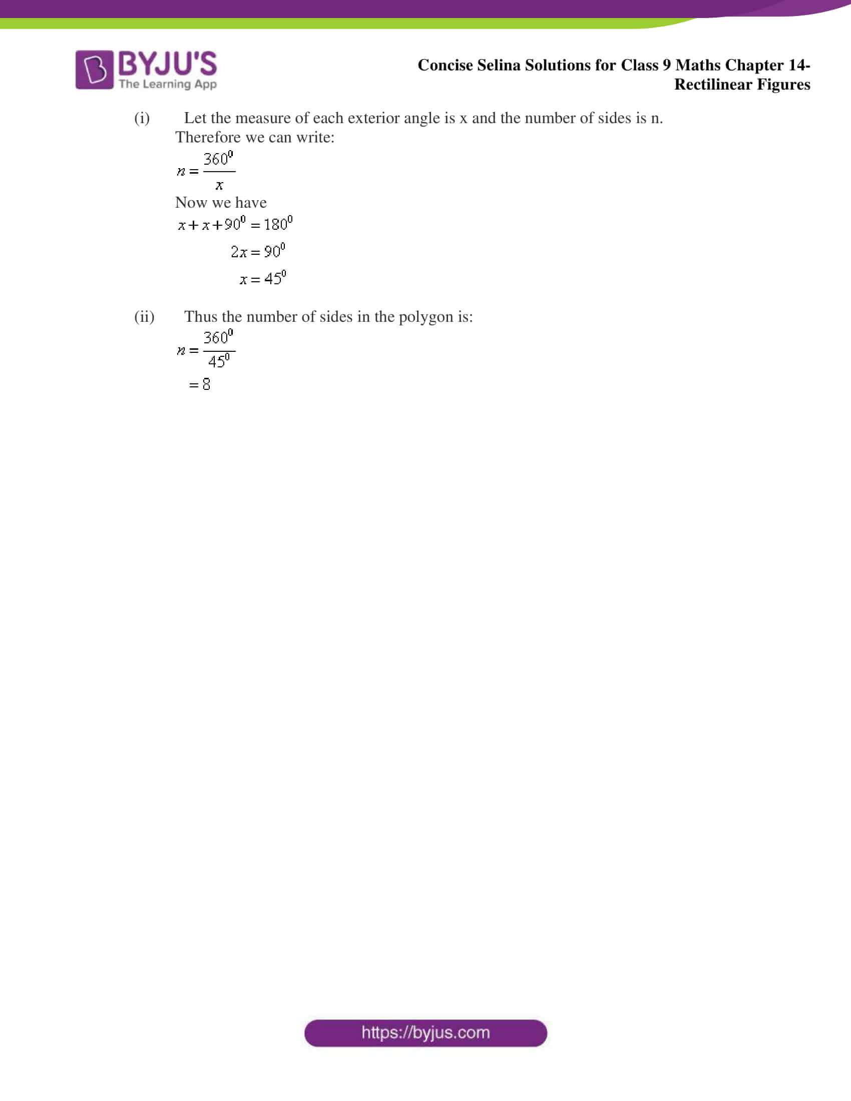 selina Solutions for Class 9 Maths Chapter 14 part 05
