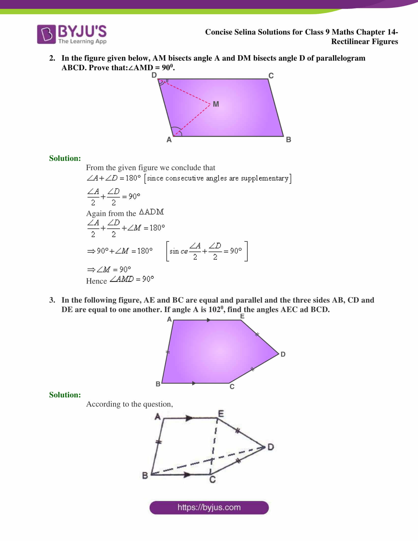 selina Solutions for Class 9 Maths Chapter 14 part 08