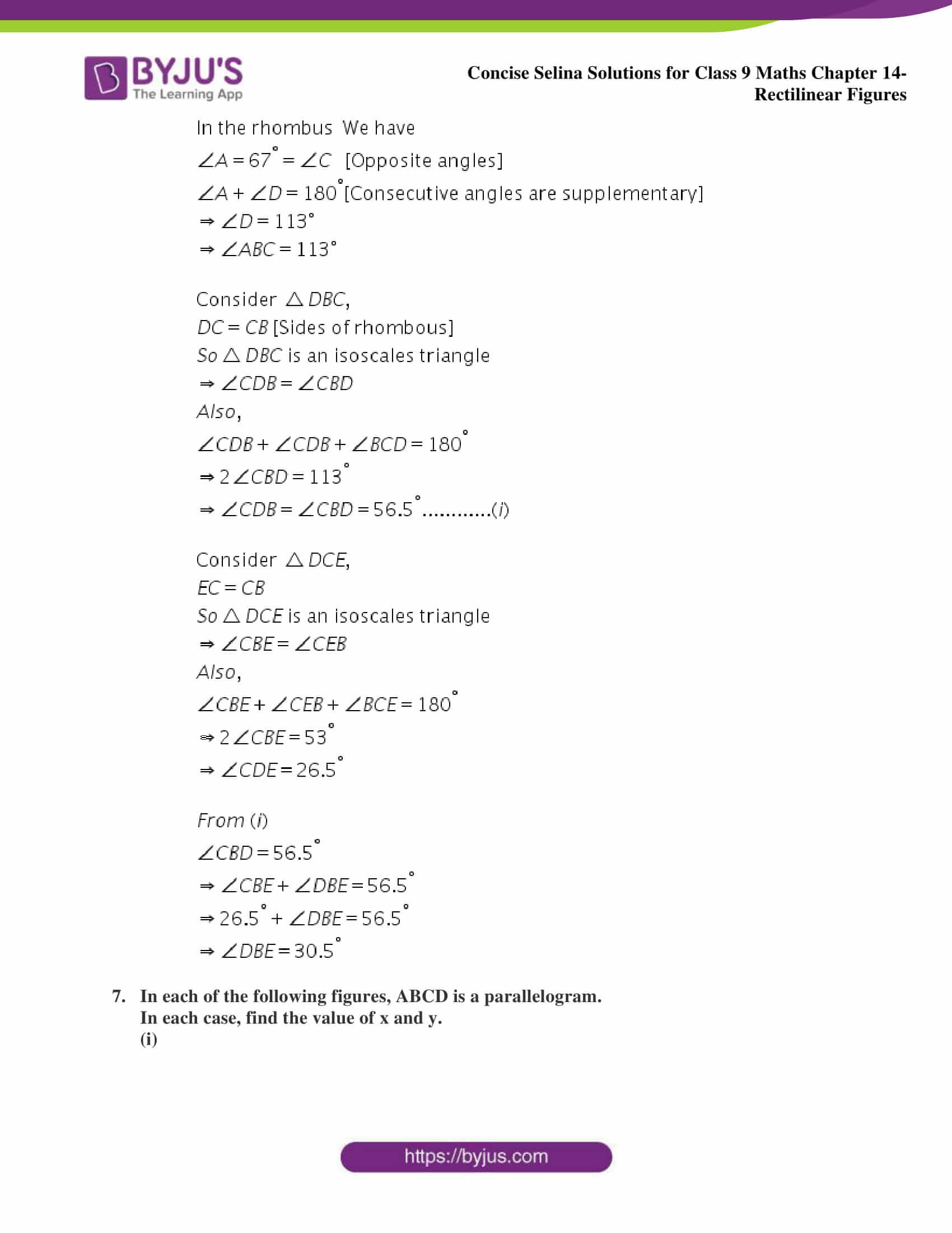 selina Solutions for Class 9 Maths Chapter 14 part 13