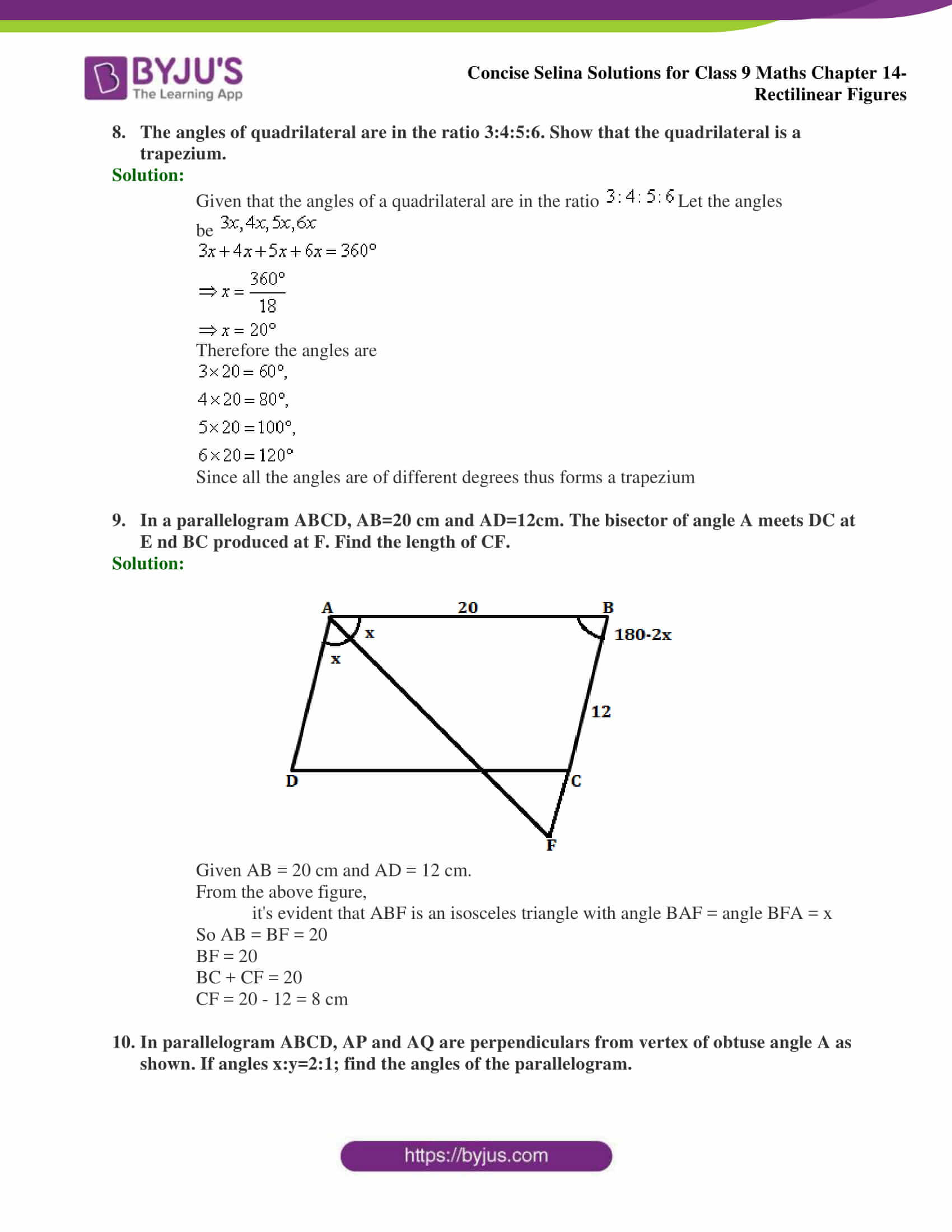 selina Solutions for Class 9 Maths Chapter 14 part 15