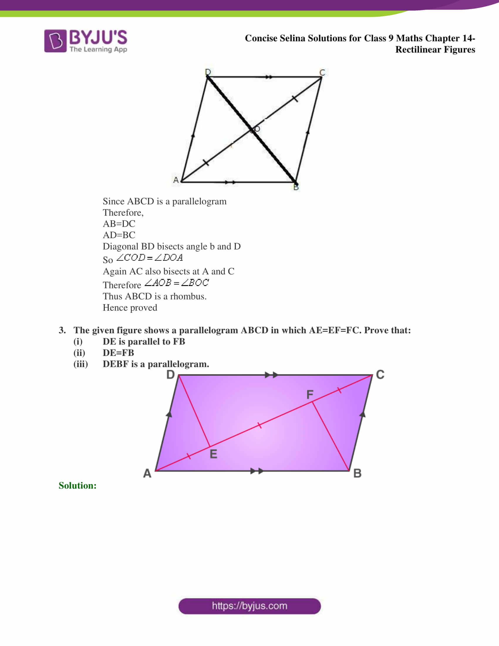 selina Solutions for Class 9 Maths Chapter 14 part 18