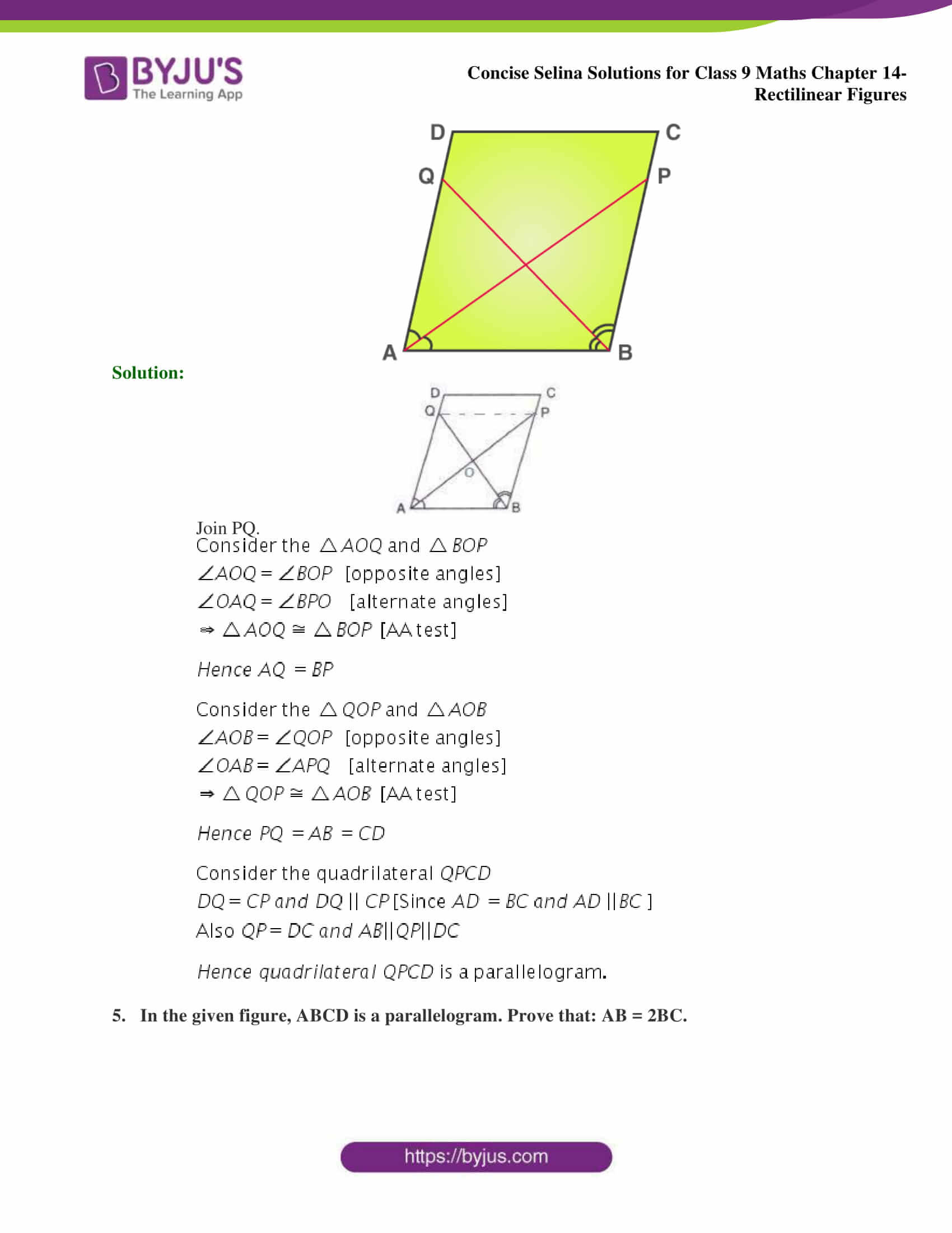 selina Solutions for Class 9 Maths Chapter 14 part 20