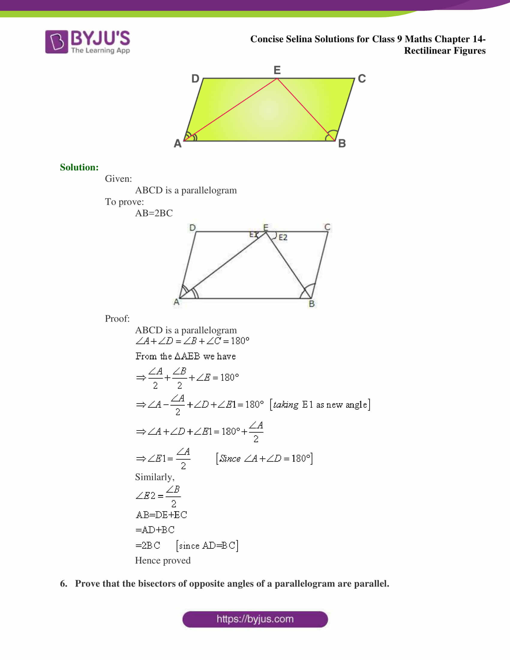 selina Solutions for Class 9 Maths Chapter 14 part 21