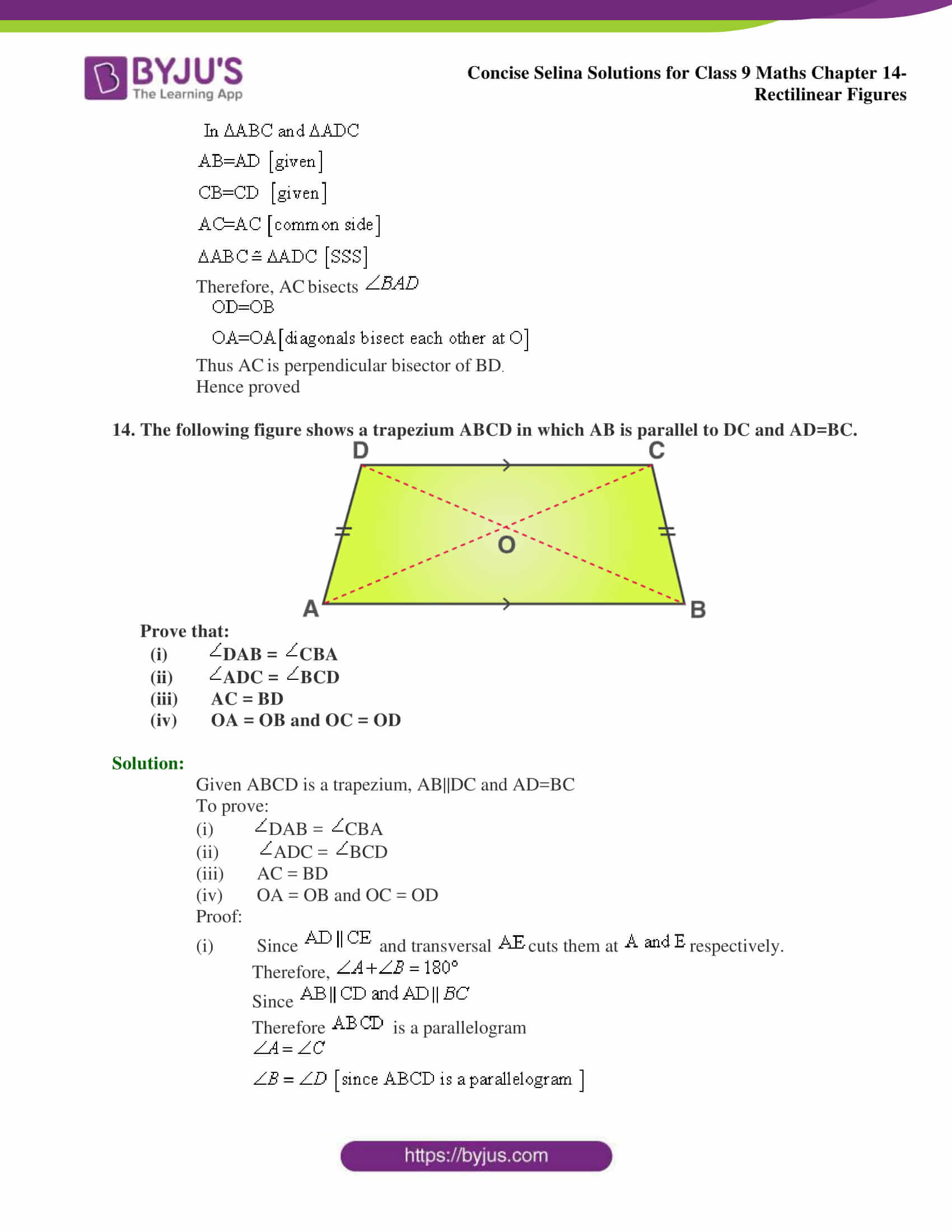 selina Solutions for Class 9 Maths Chapter 14 part 28
