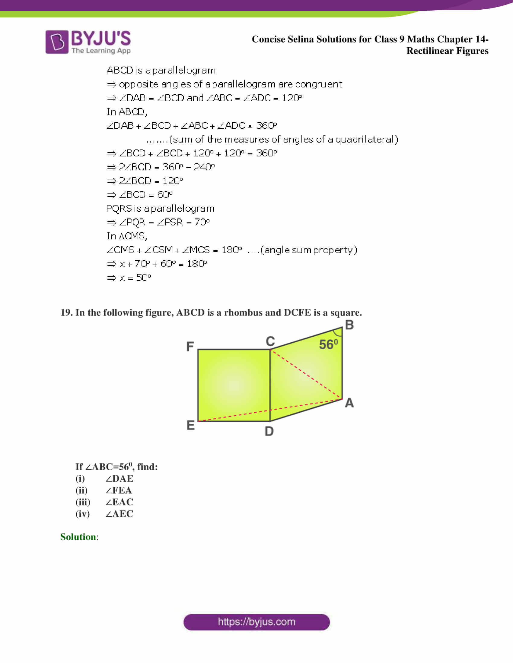 selina Solutions for Class 9 Maths Chapter 14 part 32