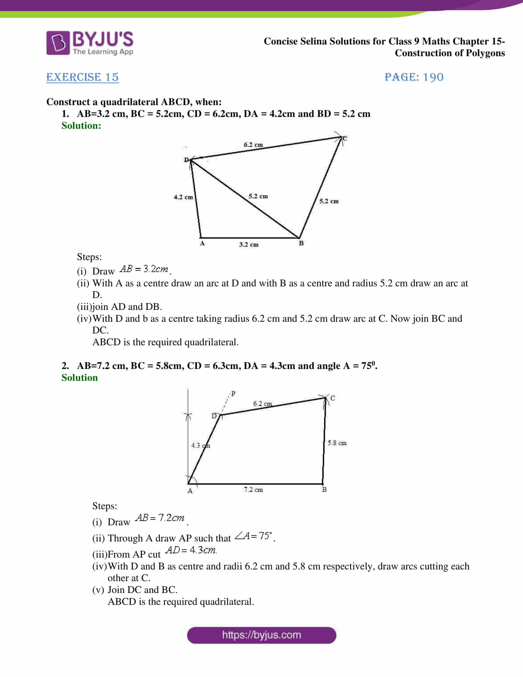 selina Solutions for Class 9 Maths Chapter 15 part 01