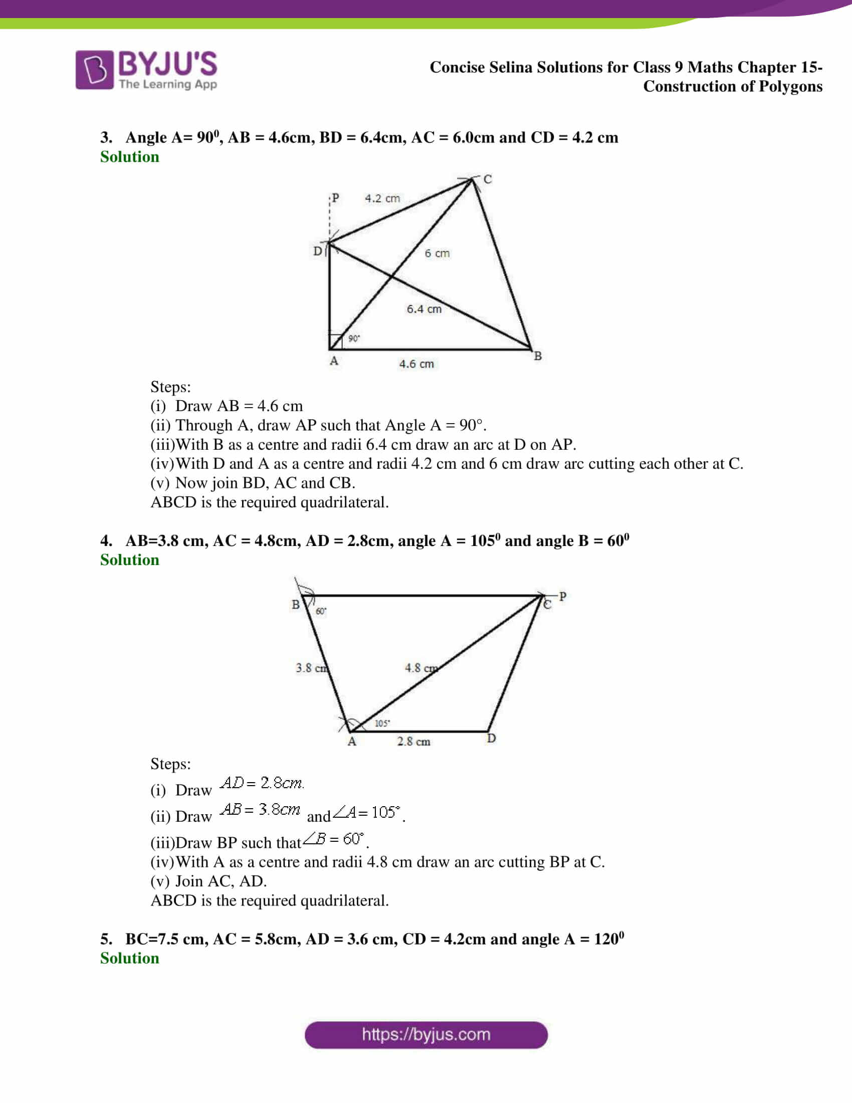selina Solutions for Class 9 Maths Chapter 15 part 02