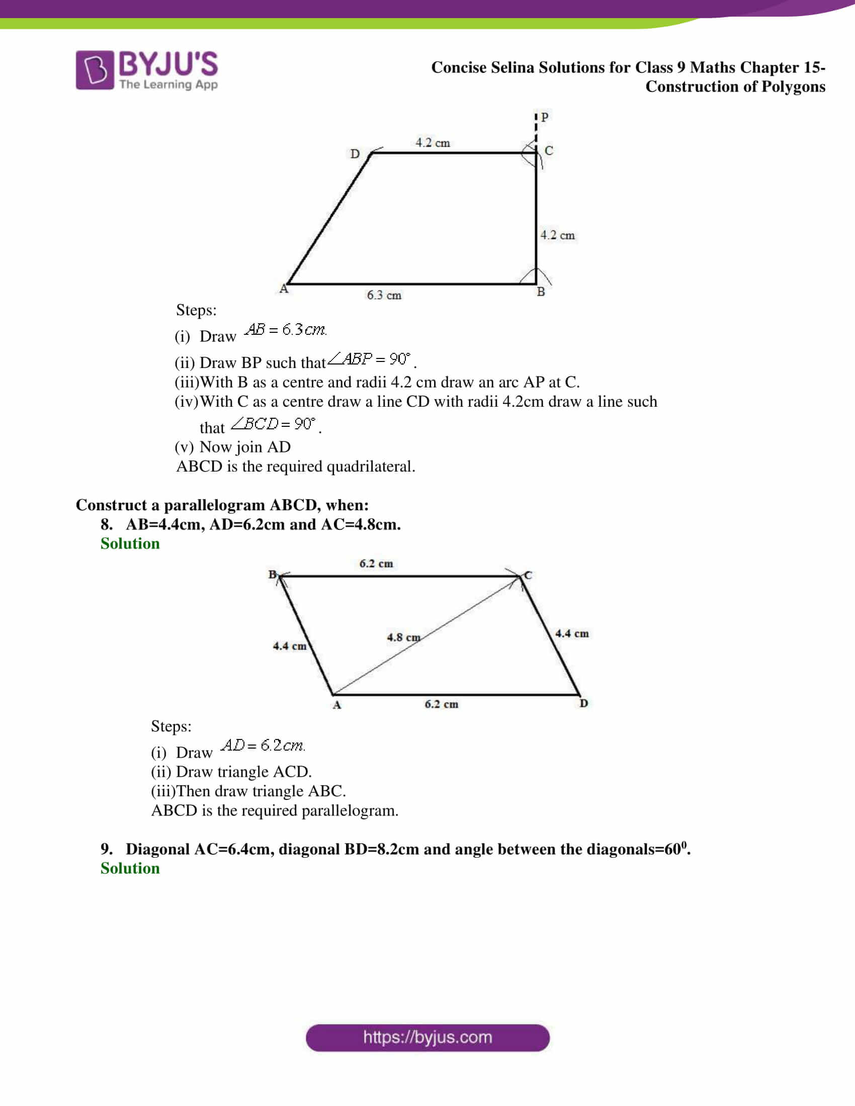 selina Solutions for Class 9 Maths Chapter 15 part 04