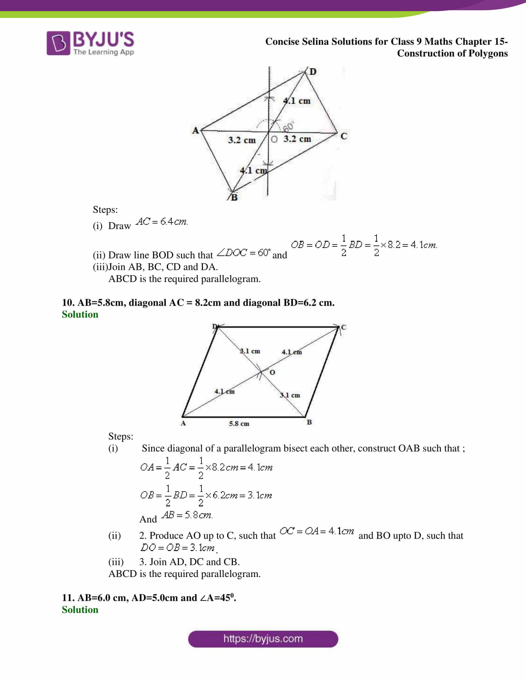 selina Solutions for Class 9 Maths Chapter 15 part 05