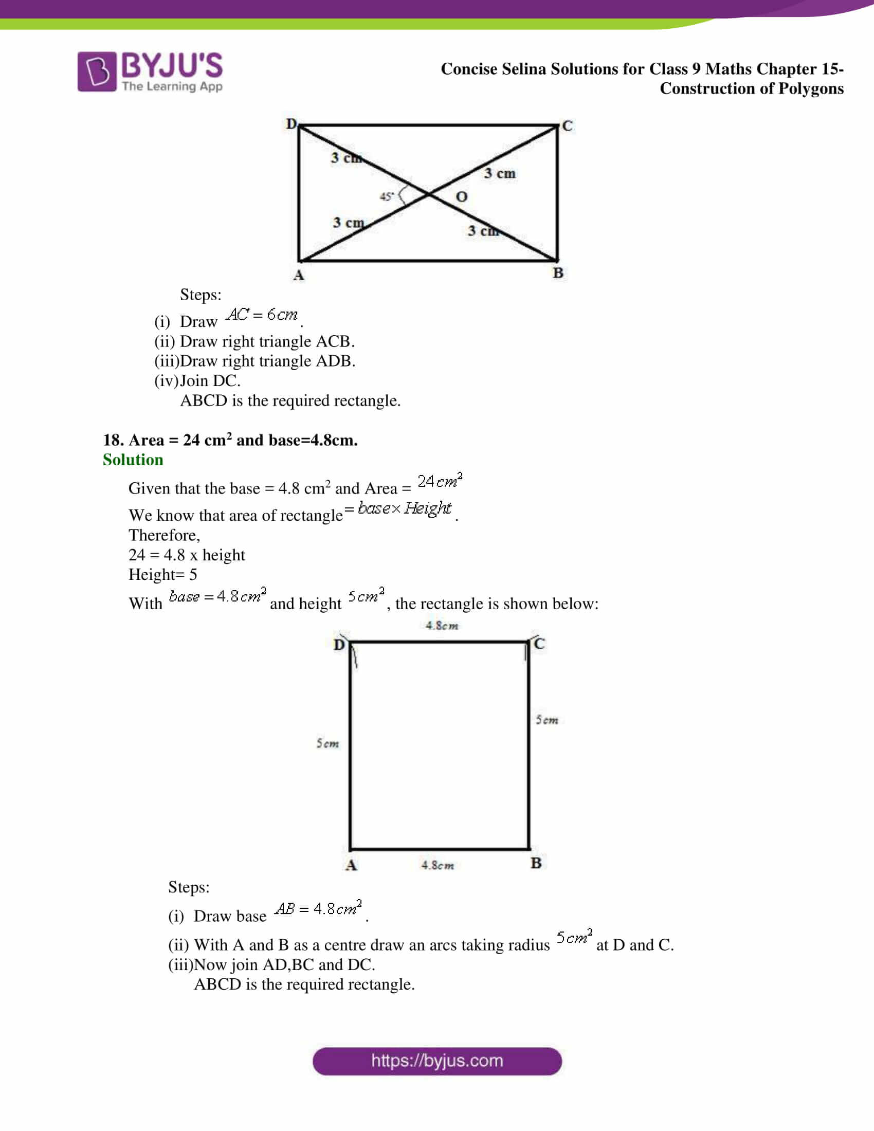 selina Solutions for Class 9 Maths Chapter 15 part 09
