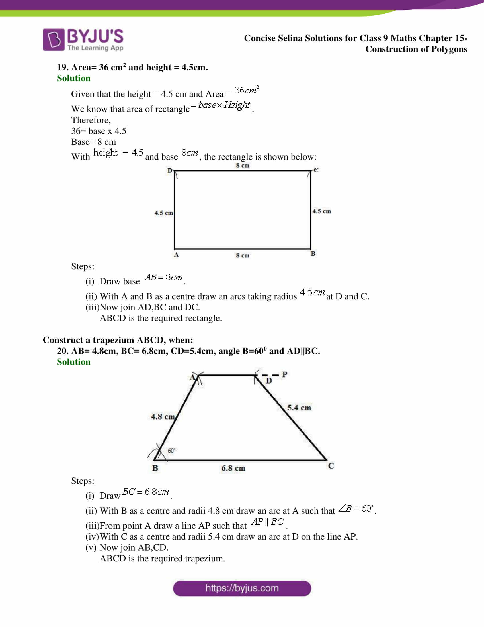 selina Solutions for Class 9 Maths Chapter 15 part 10