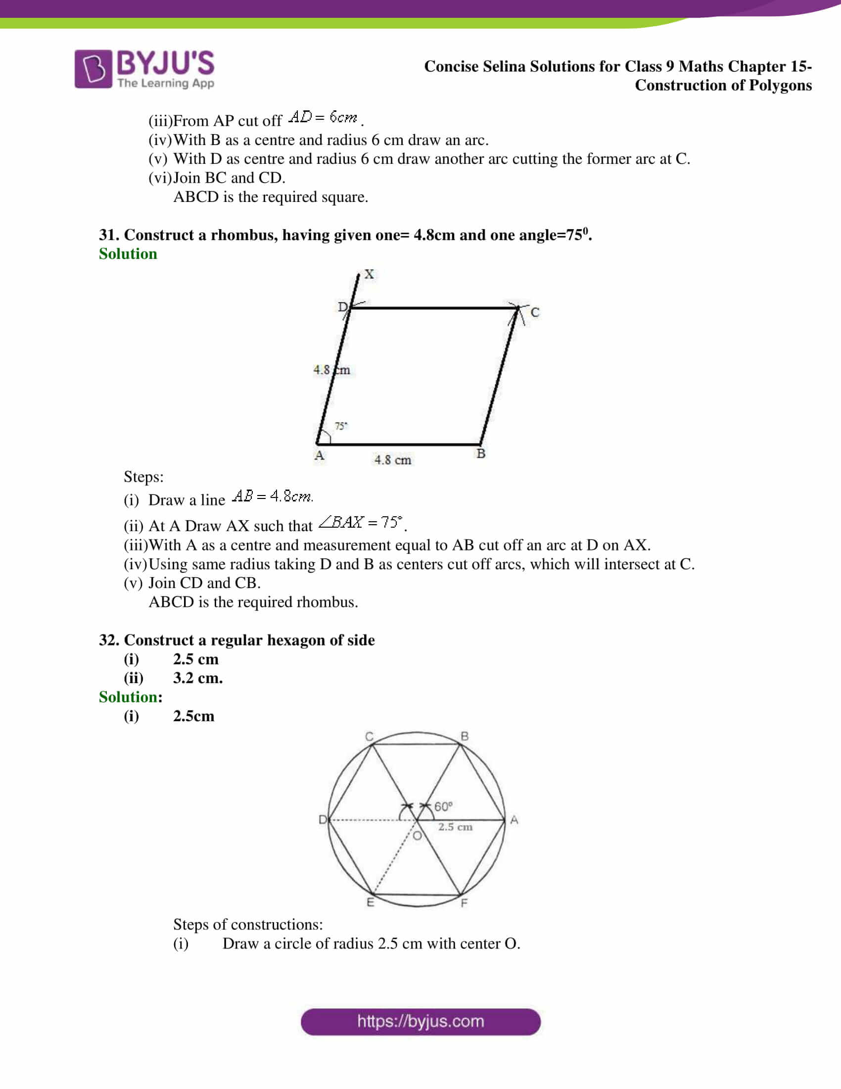 selina Solutions for Class 9 Maths Chapter 15 part 16