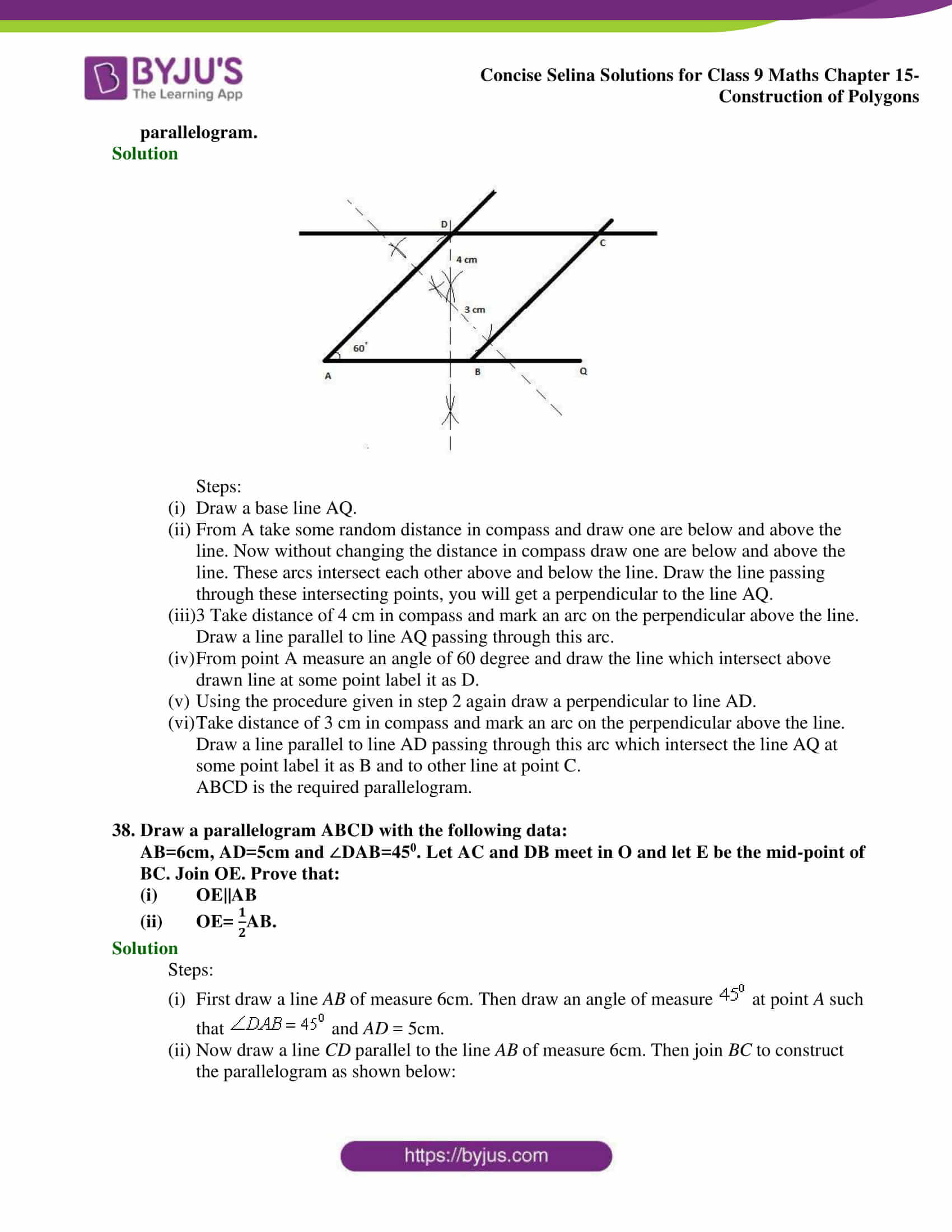 selina Solutions for Class 9 Maths Chapter 15 part 20