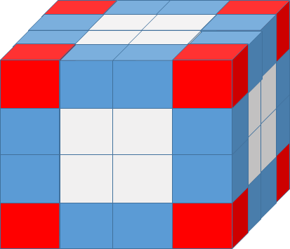 A painted cube