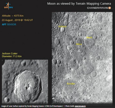 Moon as viewed by Terrain Mapping Camera - Chandrayaan