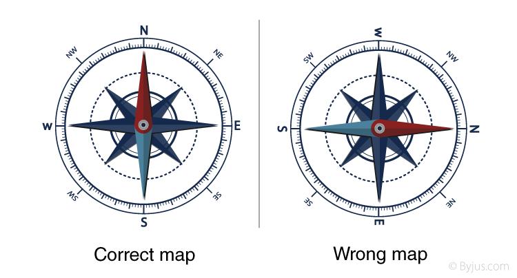 Correct map v/s Wrong map