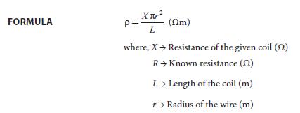 Experiment 1 Formula
