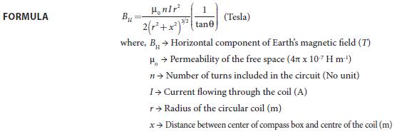 Experiment 3 Formula