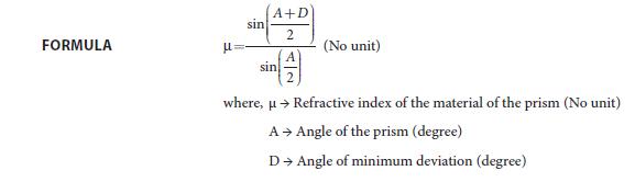 Experiment 4 Formula