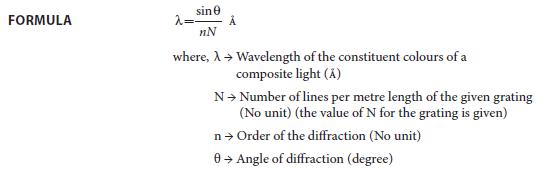 Experiment 5 Formula