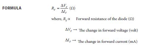 Experiment 6 Formula
