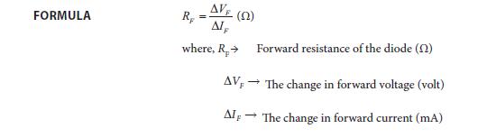 Experiment 7 Formula