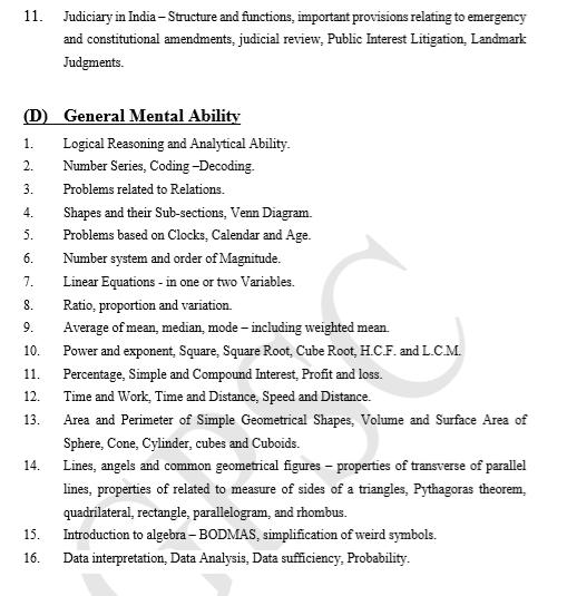 GPSC Syllabus - GS Paper 1 - Prelims (4)