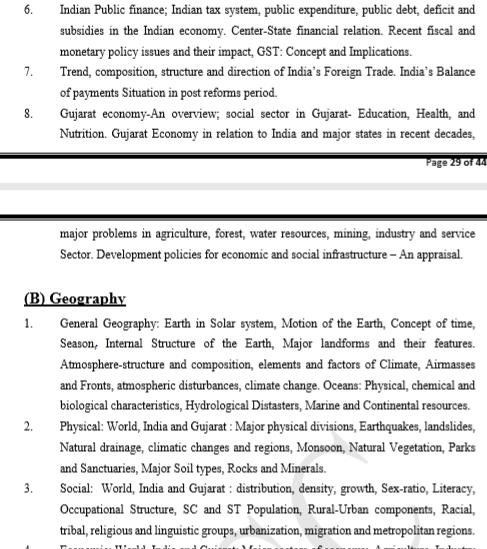 GPSC Syllabus - GS Paper 2 prelims(2)