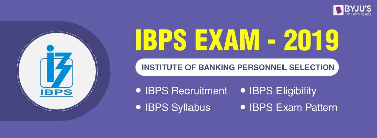 IBPS Exams 2019
