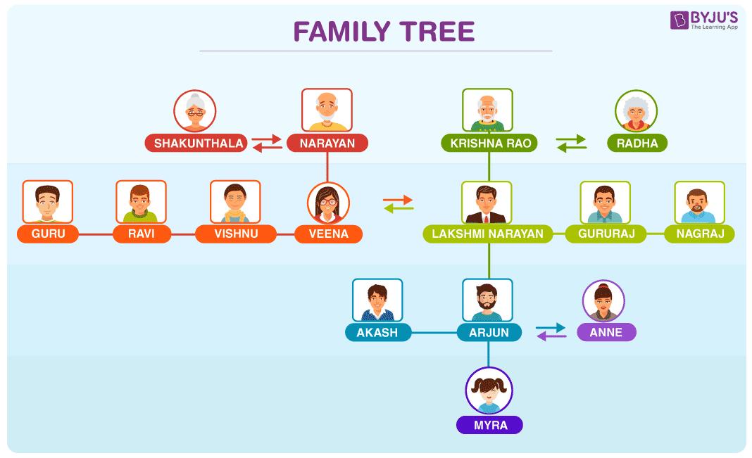 Biểu diễn sơ đồ của một cây gia đình