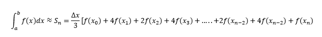 Simpson's rule formula