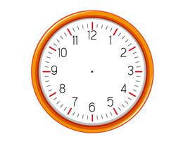 Twelve equal divisions of a clock