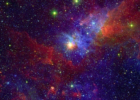 Variable Star Eta Carinae embedded in Carina Nebula