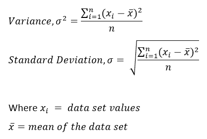 Variance and Standard Deviation Formula