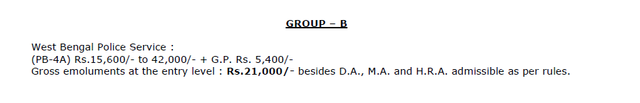 WBPSC 2019- Group B Pay