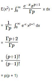 Gamma Distribution Variance