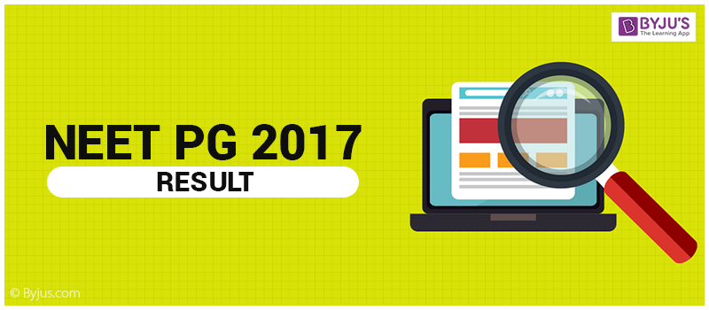 NEET PG 2017 Results