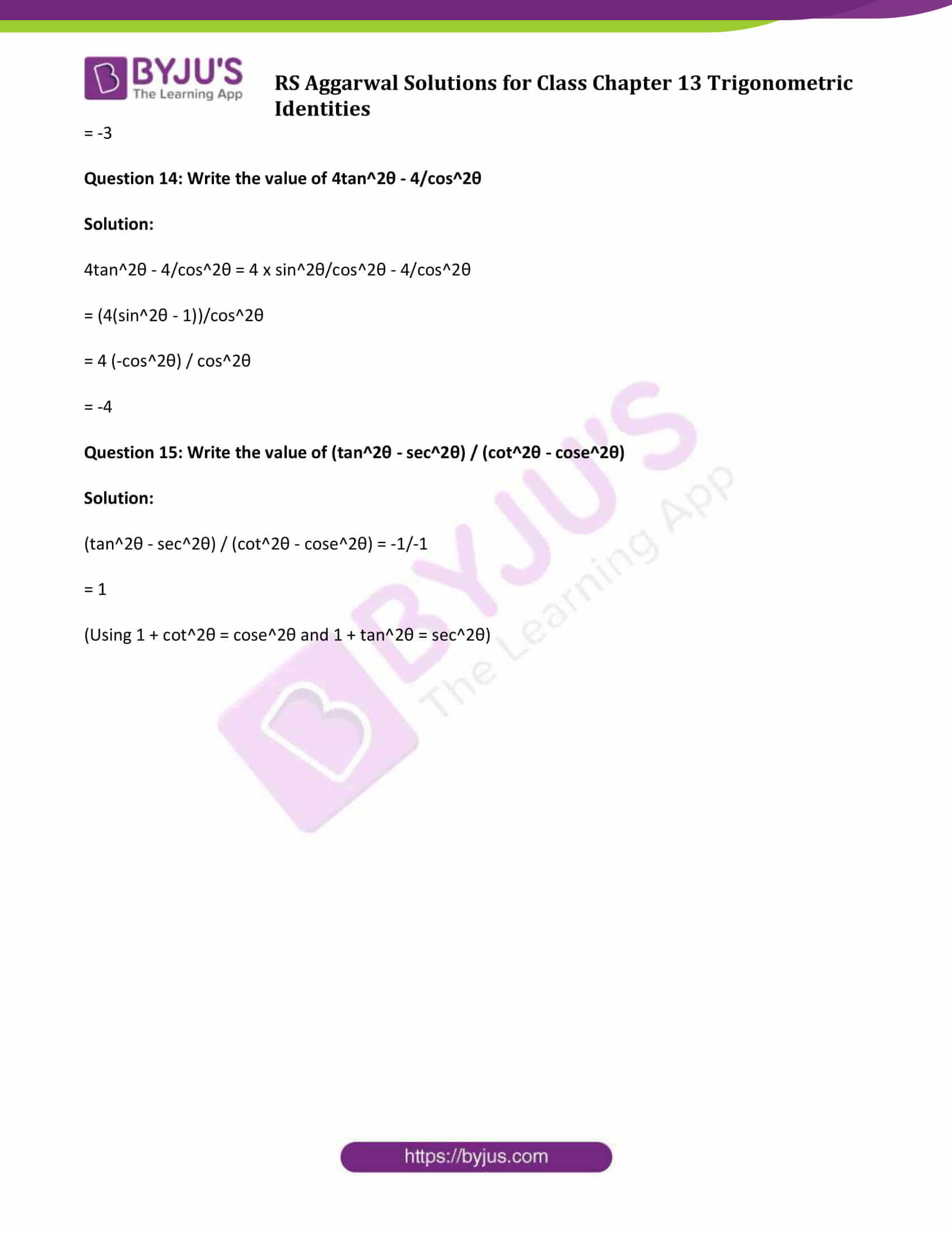 rs aggarwal sol class 10 maths chapter 13