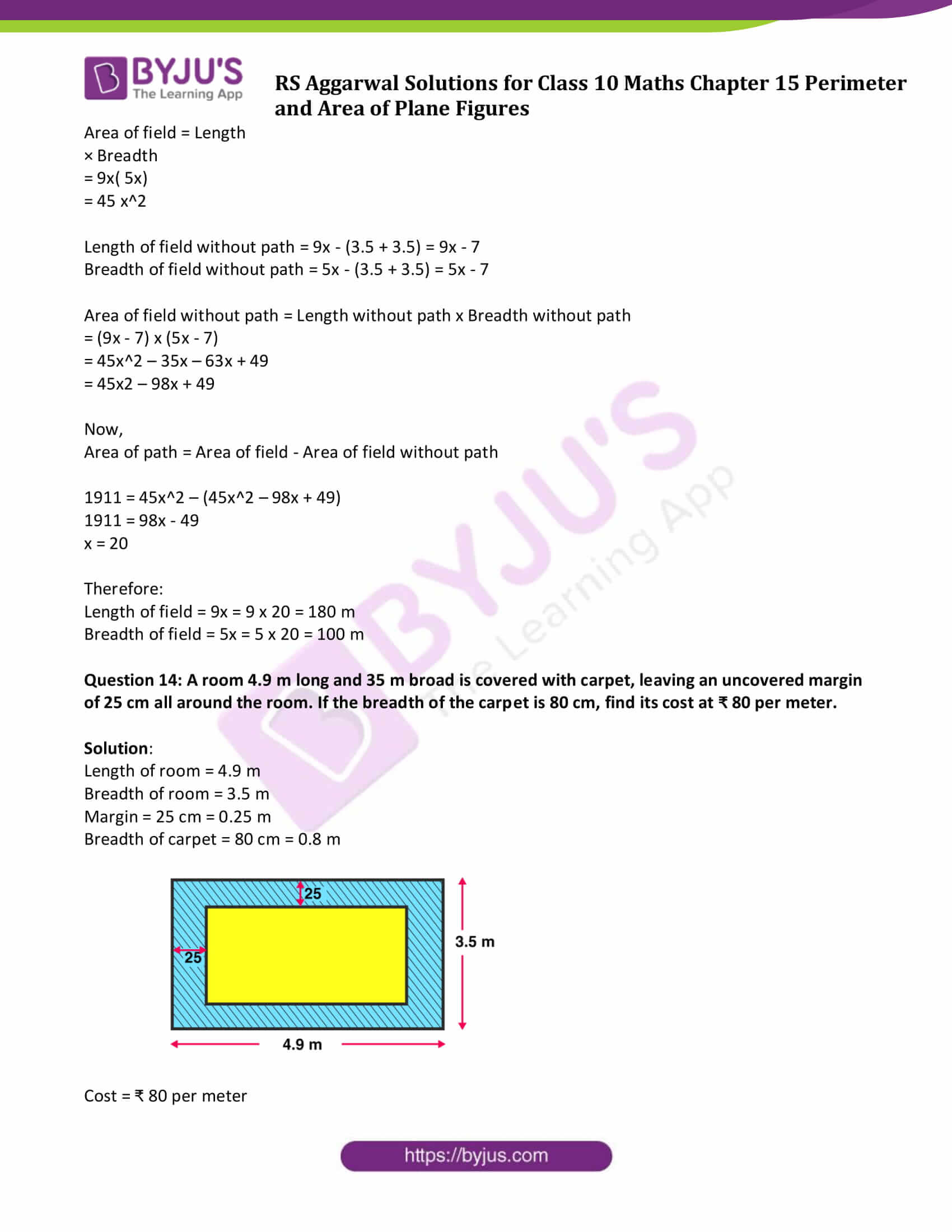 rs aggarwal sol class 10 maths chapter 15 ex b