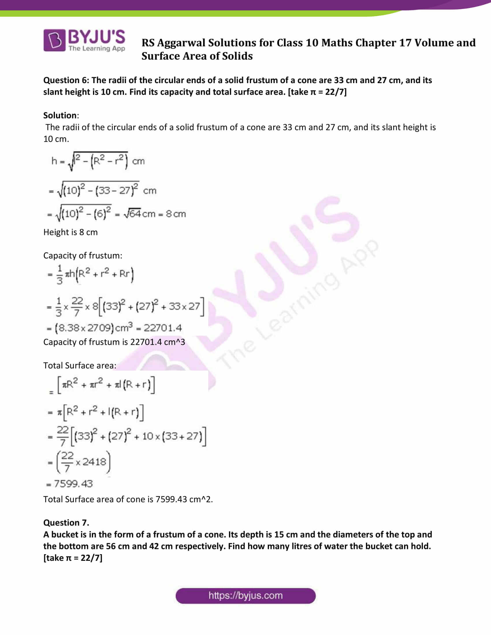 rs aggarwal sol class 10 maths chapter 17c