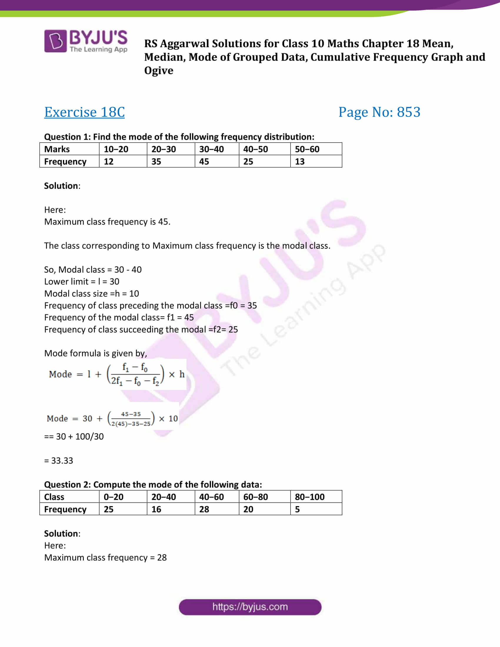 rs aggarwal sol class 10 maths chapter 18c