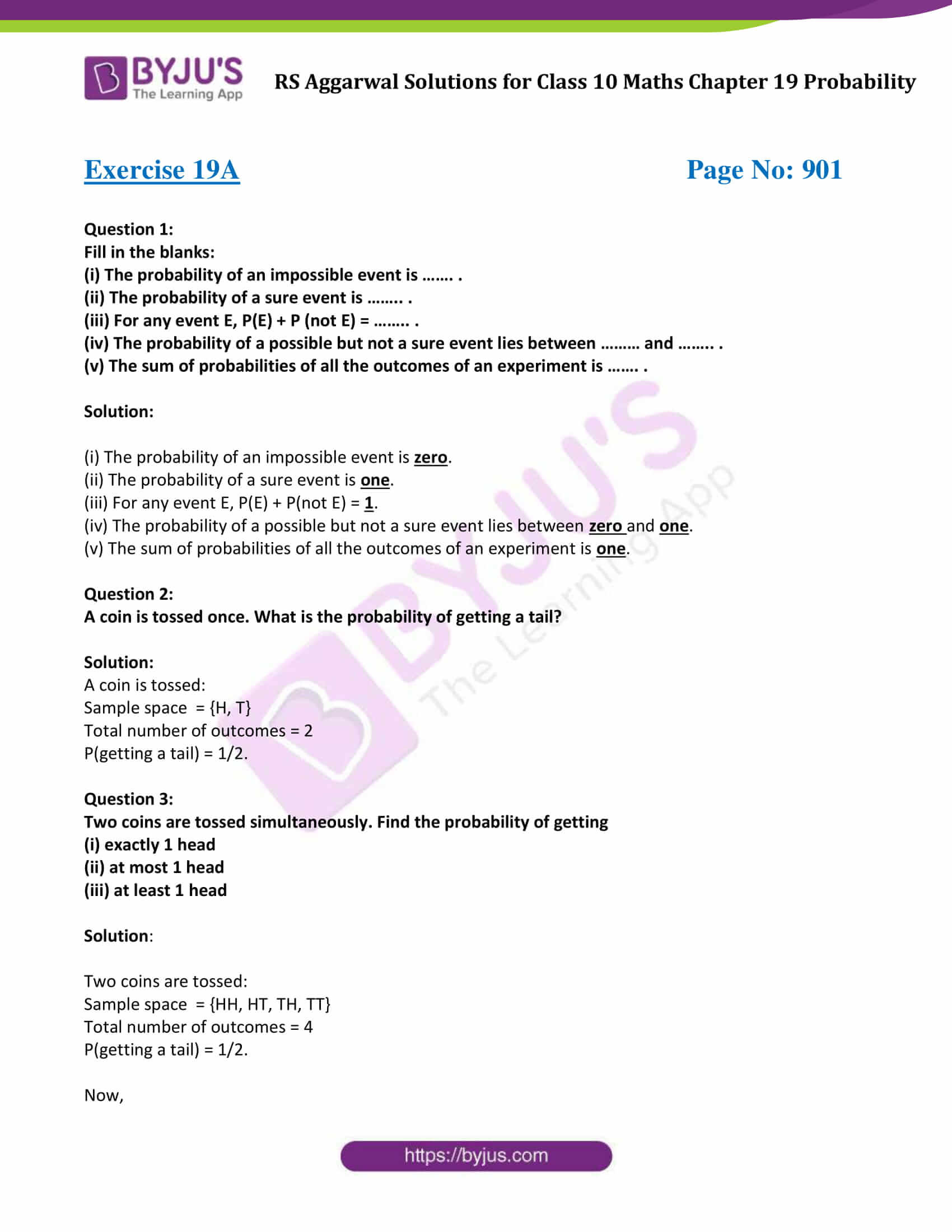 rs aggarwal sol class 10 maths chapter 19a