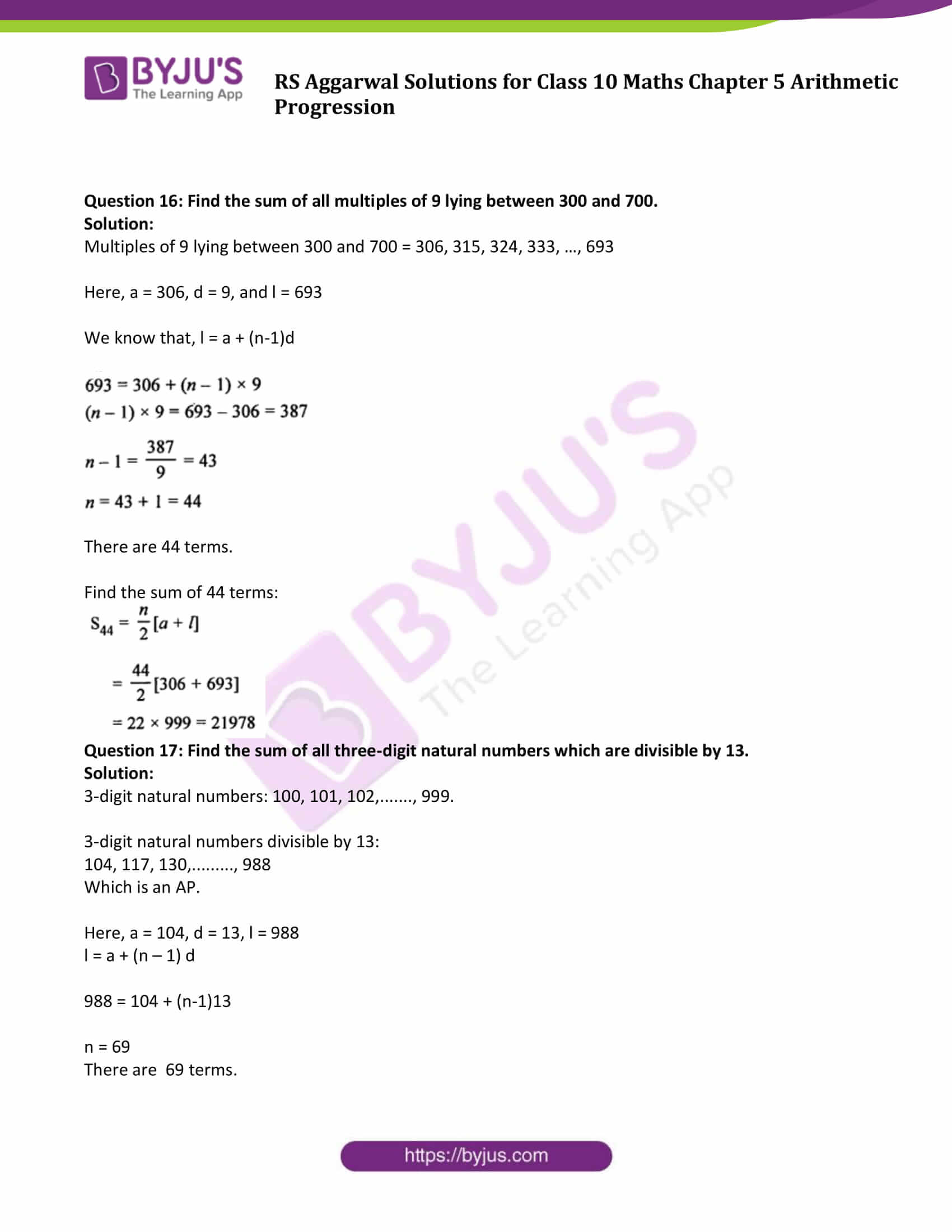 RS Aggarwal Sol class 10 Maths Chapter 5C