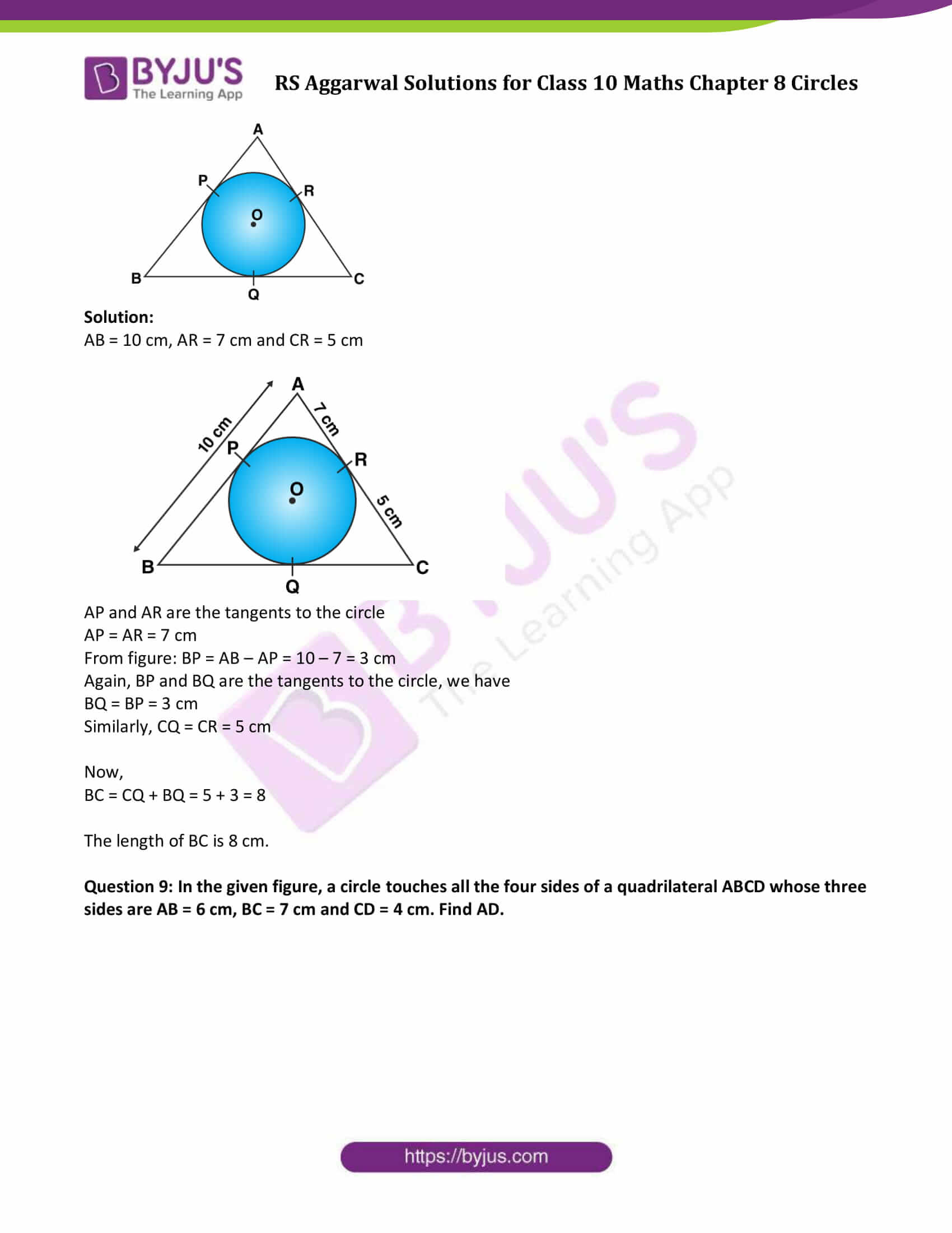rs aggarwal sol class 10 maths chapter 8
