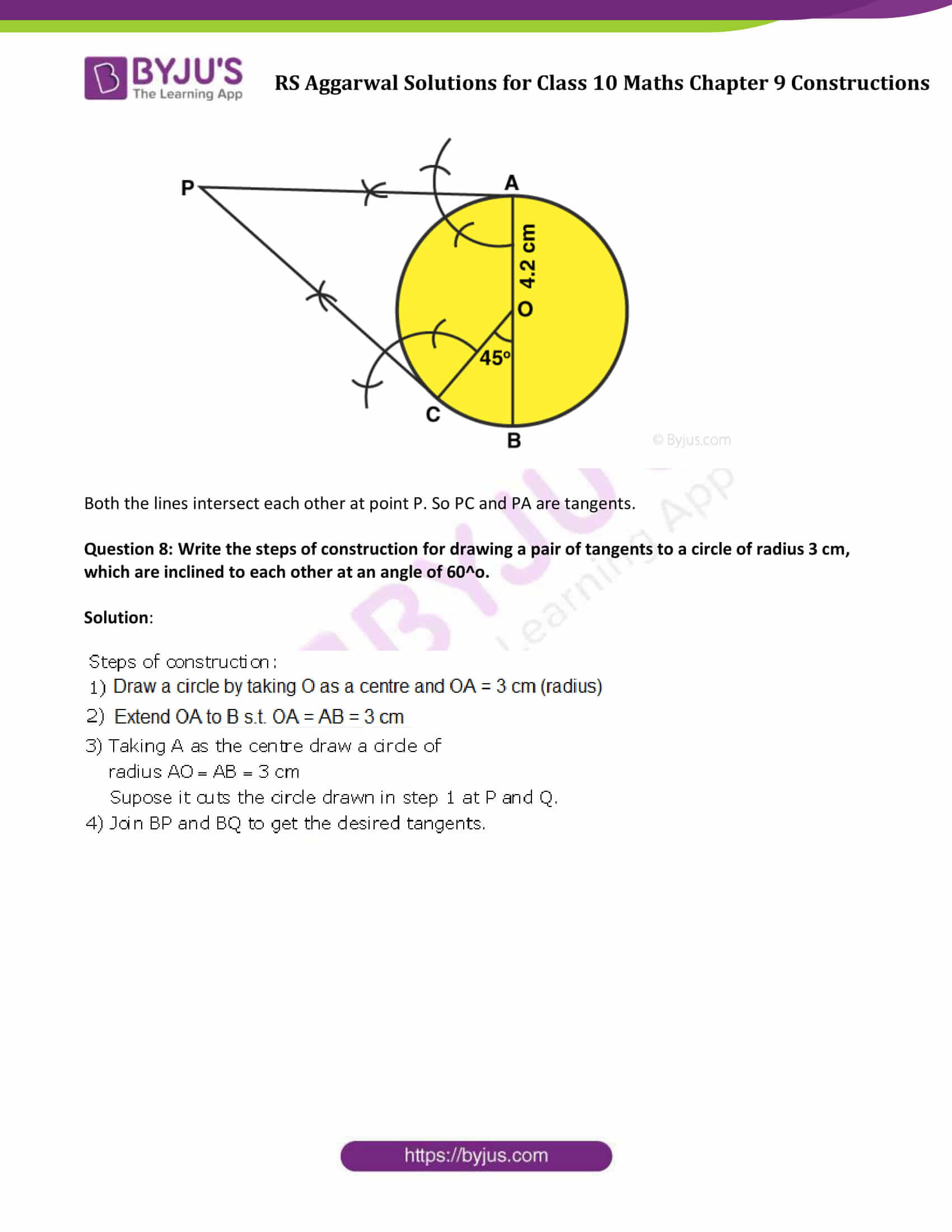 rs aggarwal sol class 10 maths chapter 9