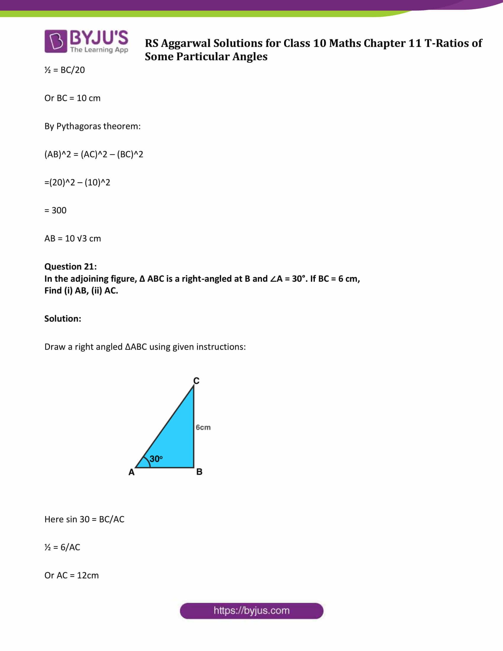RS Aggarwal Sol class 10 Maths Chapter 11