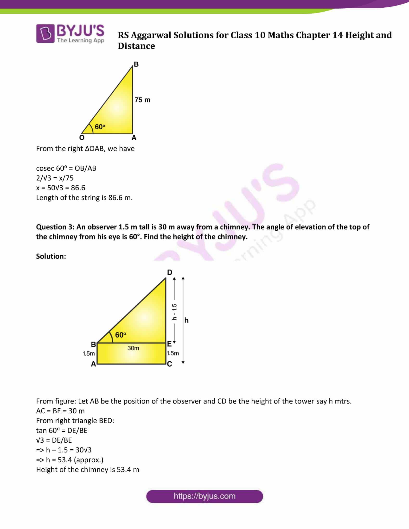 RS Aggarwal Sol class 10 Maths Chapter 14