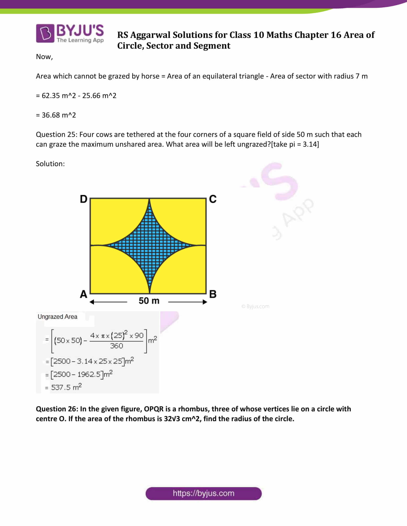 RS Aggarwal Sol class 10 Maths Chapter 16 Exercise 16A
