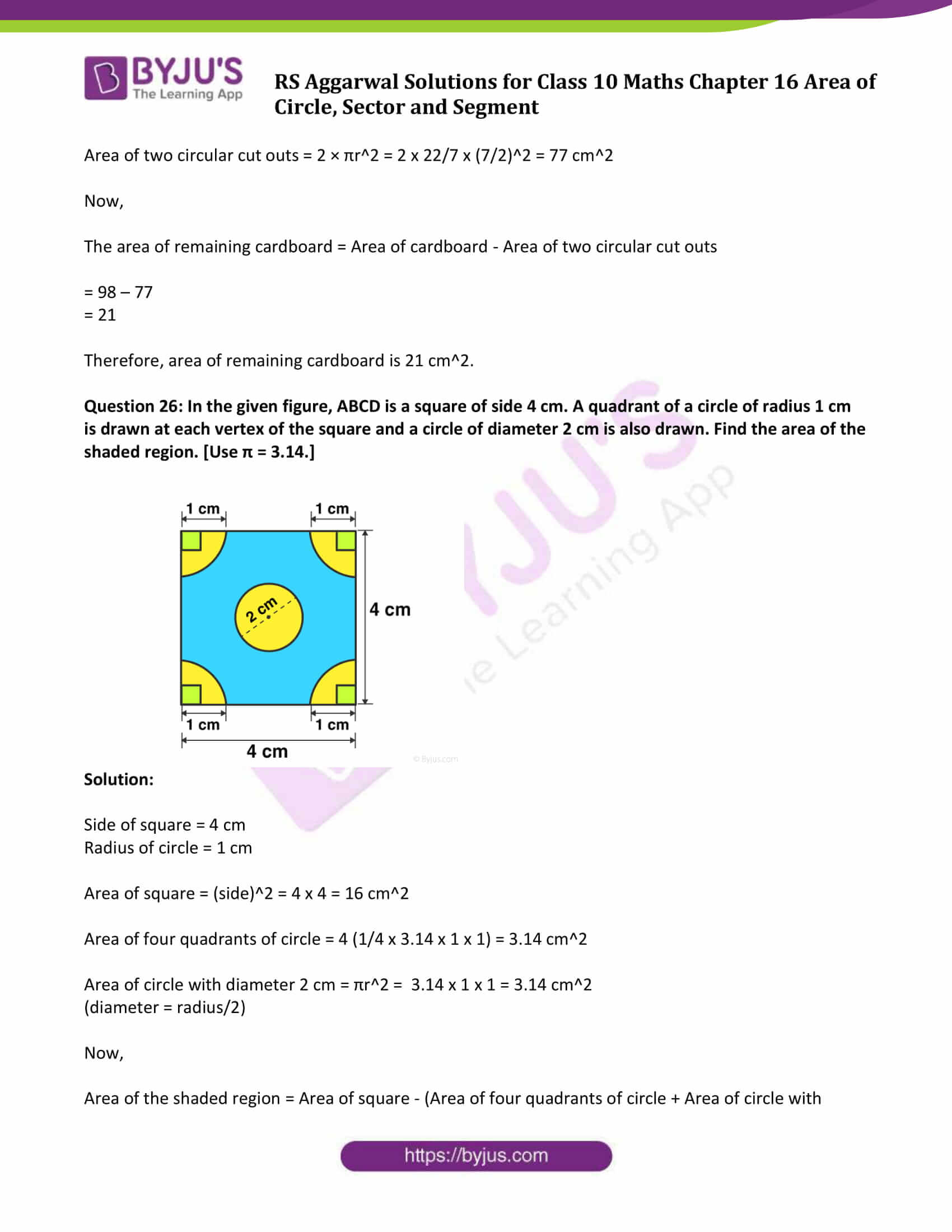 RS Aggarwal Sol class 10 Maths Chapter 16 Exercise 16B