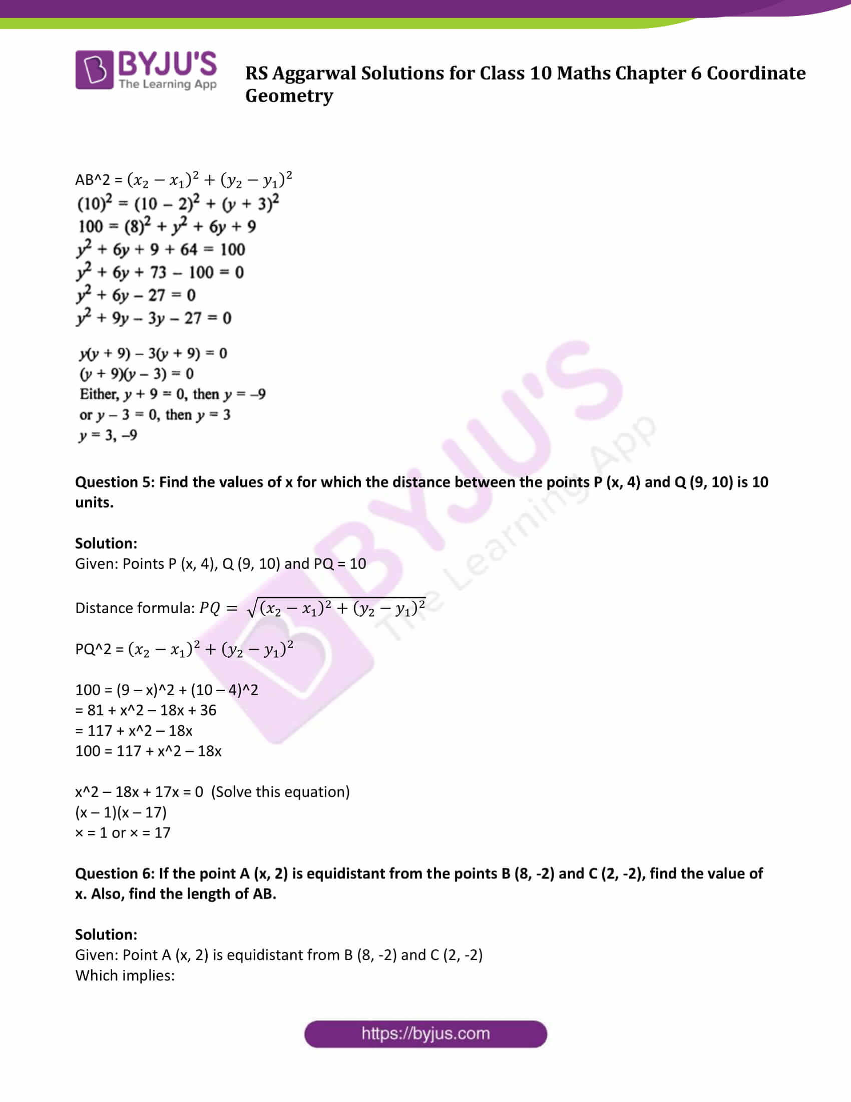 RS Aggarwal Sol class 10 Maths Chapter 6A